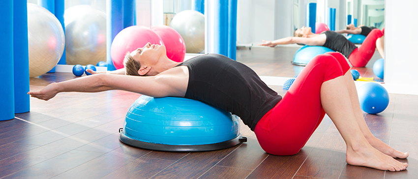 Estúdio de Pilates bem equipado
